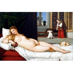 Wall art print and canvas. Tiziano, The Venus of Urbino