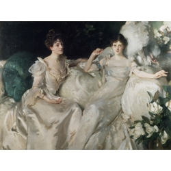 Wall art print and canvas. John Singer Sargent, The Wyndham Sisters (detail)