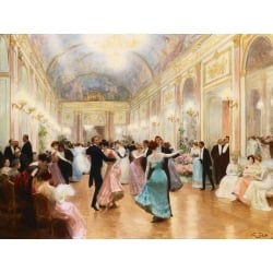 Wall art print and canvas. Victor Gabriel Gilbert, The Ball