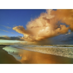 Wall art print and canvas. Krahmer, Sunset on the ocean, New South Wales, Australia