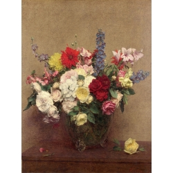 Wall art print and canvas. Henri Fantin-Latour, The Rosy Wealth of June