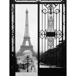 Wall art print and canvas. Eiffel Tower from the Trocadero Palace, Paris