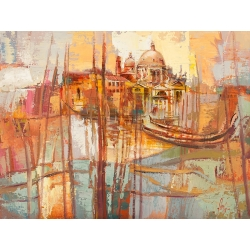 Wall art print and canvas. Luigi Florio, Colors of Venice