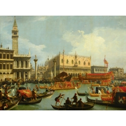 Wall art print and canvas. Canaletto, The Bucintoro in front of Palazzo Ducale, Venice