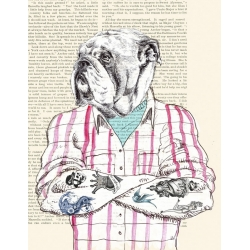 Wall art print and canvas. Matt Spencer, Hipster Socialite