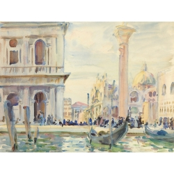 Wall art print and canvas. John Singer Sargent, The Piazzetta