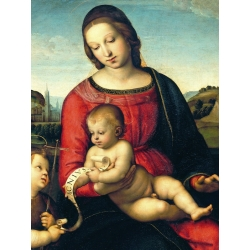 Wall art print and canvas. Raffaello, Madonna Terranuova (detail)