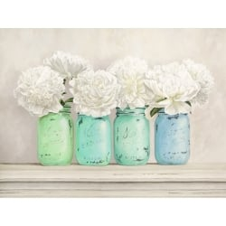 Peonies in Mason Jars