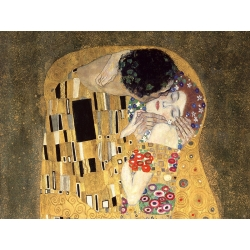 Wall art print and canvas. Gustav Klimt, The Kiss (detail)