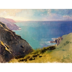 Wall art print and canvas. Abbott Handerson Thayer, Cornish Headlands