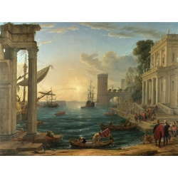 Wall art print and canvas. Claude Gellée, The embarkation of the Queen of Sheba