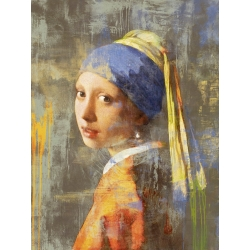 Wall art print and canvas. Eric Chestier, Vermeer's Girl 2.0