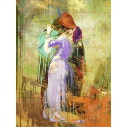 Wall art print and canvas. Eric Chestier, Hayez's Kiss 2.0