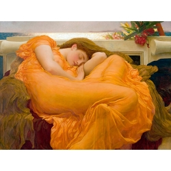 Quadro, stampa su tela. Frederic Leighton, Flaming June (dettaglio)