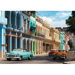 Wall art print and canvas. Gasoline Images, Vintage Cars, Havana, Cuba