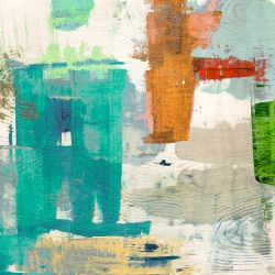 Abstract wall art print and canvas. Anne Munson, Paused Event II