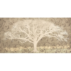 Quadro per il salotto, stampa su tela. Tree on a Gray Brocade