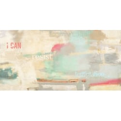 Abstract Wall Art Print and Canvas. I can resist anything