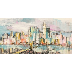 Modern Wall Art Print and Canvas. Colors of Manhattan
