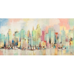 Modern Wall Art Print and Canvas. New York Skyline
