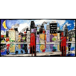 Modern Wall Art Print and Canvas. New York Painting. Citycolor