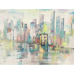 Modern Wall Art Print and Canvas. Morning in Manhattan