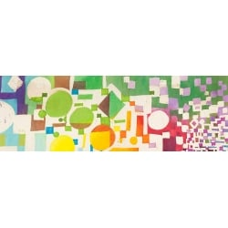 Modern abstract wall art print and canvas. Multicolor Pattern VI