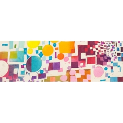 Modern abstract wall art print and canvas. Multicolor Pattern VII