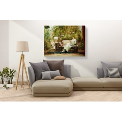 Wall art print and canvas. Mihaly Munkacsy, A Willing Helper