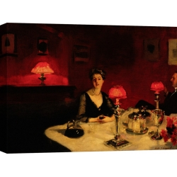 Wall art print and canvas. John Singer Sargent, A Dinner Table at Night