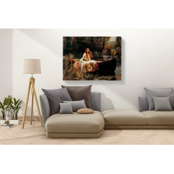Wall art print and canvas. Waterhouse, The Lady of Shalott