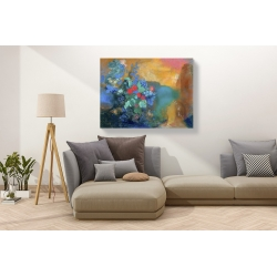 Wall art print and canvas. Odilon Redon, Ophelia among the flowers