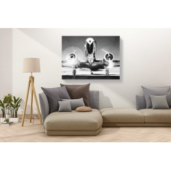 Wall art print and canvas. Front View of Passenger Airplane