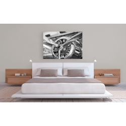Wall art print and canvas. Vintage airplane propeller