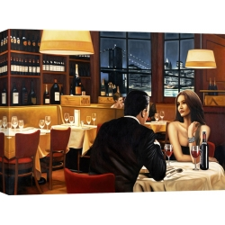 Wall art print and canvas. Pierre Benson, Evening