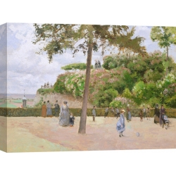 Wall art print and canvas. Camille Pissarro, The Public Garden at Pontoise