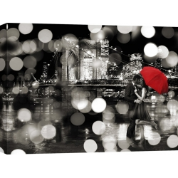 Wall art print and canvas. Dianne Loumer, A Kiss in the Night (BW)