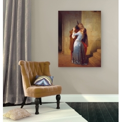 Wall art print and canvas. Francesco Hayez, The Kiss