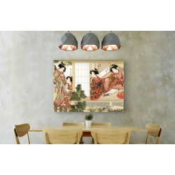 Wall art print and canvas. Katsukawa Shunsho, Japanese Beauties, 1776